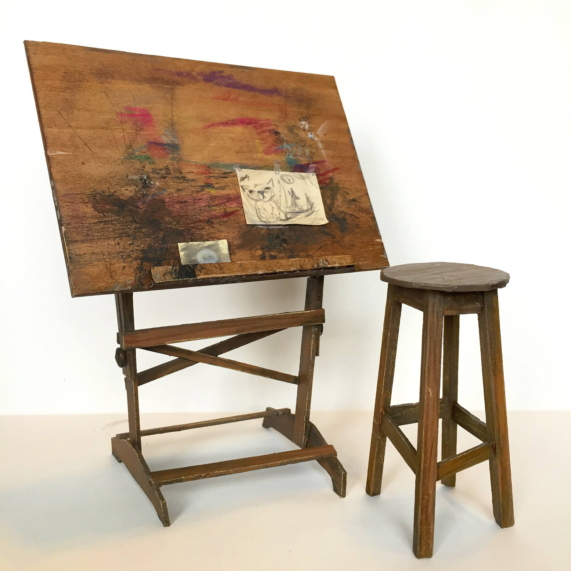Drafting Table for <i>The Wolves in the Walls</i>