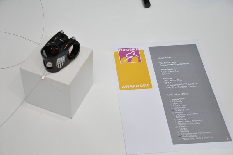 EUROBIKE AWARD - MSC Magik Stem