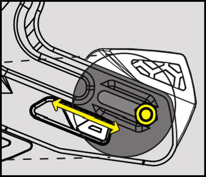 e-Thirteen utilising the sliding hole for adjustment