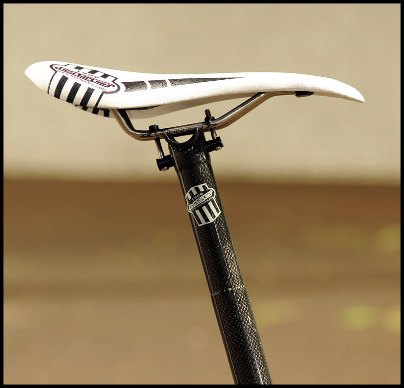 MSC Ultralight Triple butted carbon post and Ultralight Ti+Composite saddle