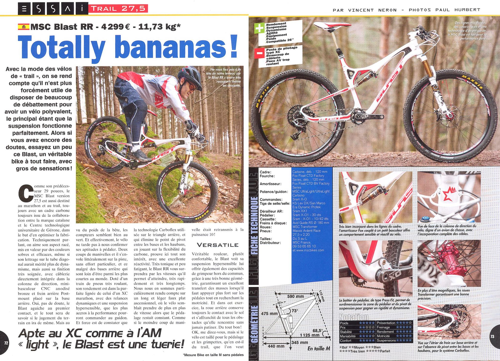BLAST 27.5 - Near Perfect Score in France Bike 2015