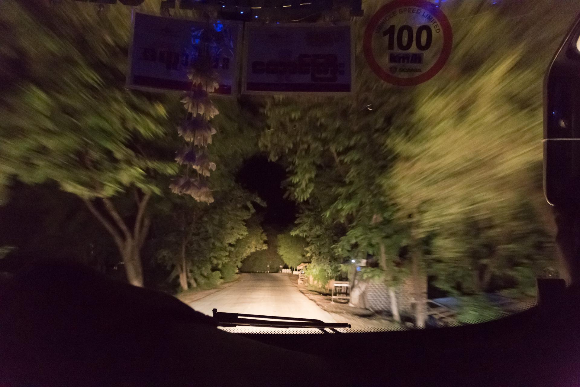 im Nachtbus nach Mandalay