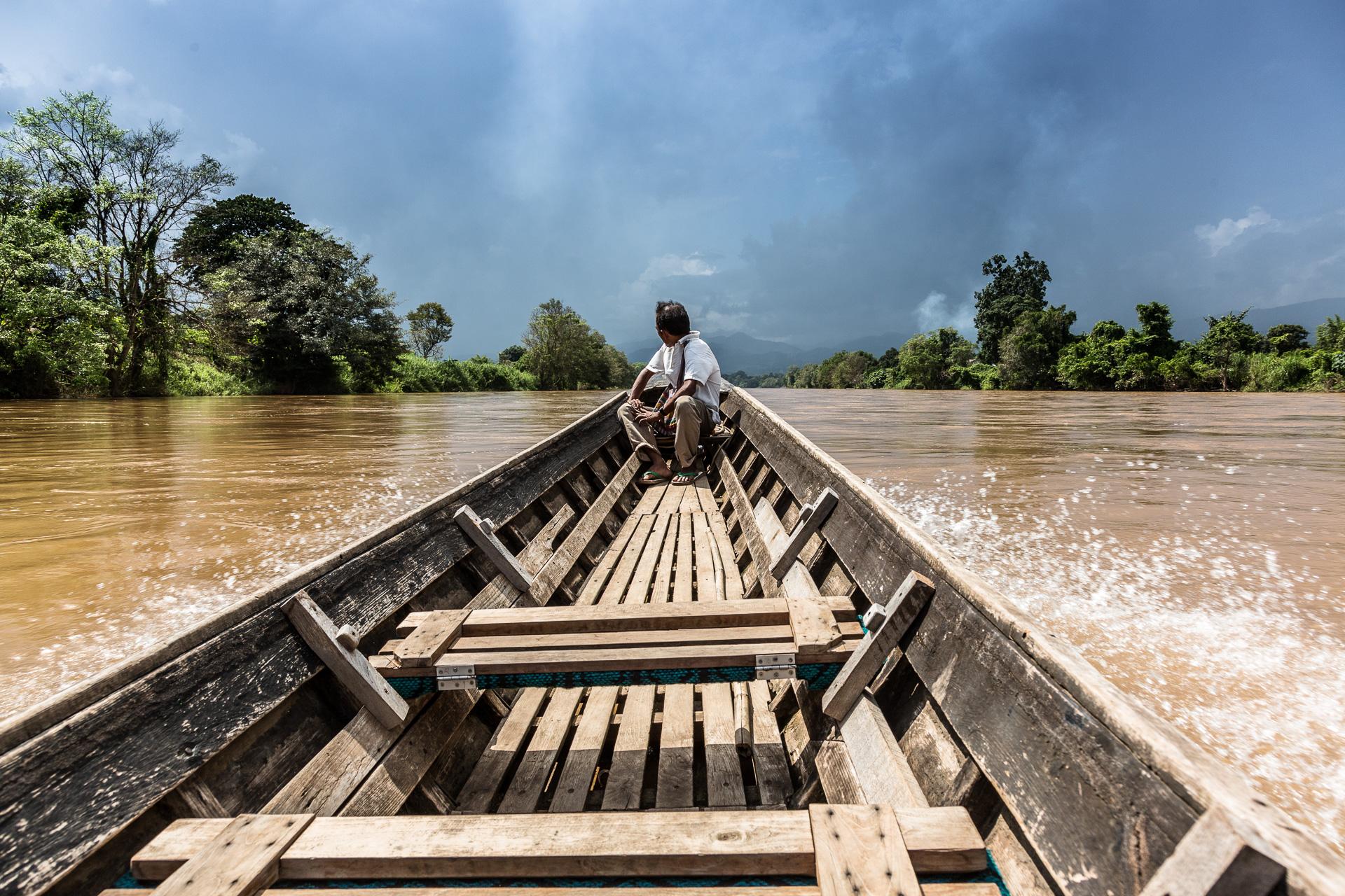 auf einem Nebenarm des Irrawaddy