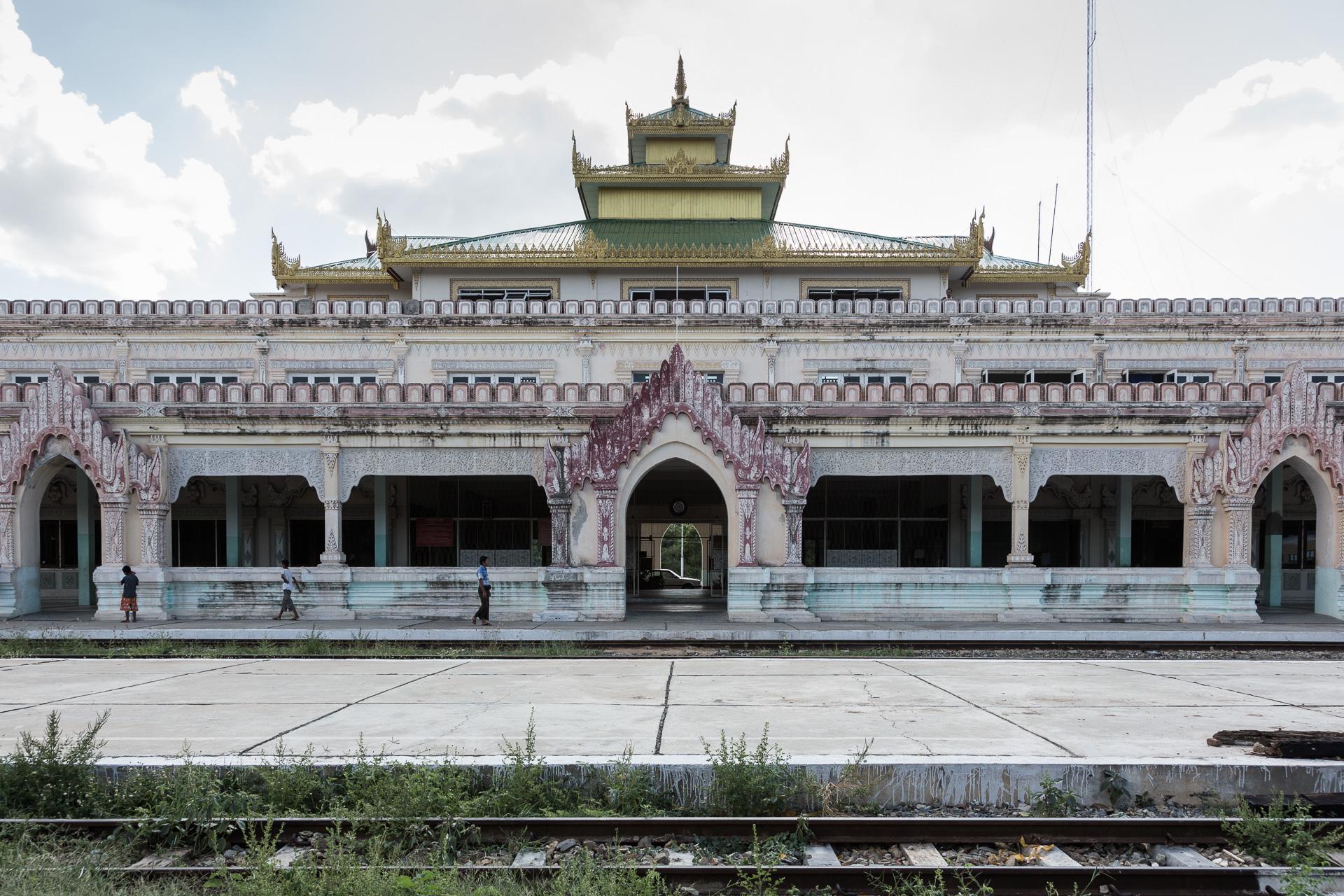 der Bahnhof von Bagan