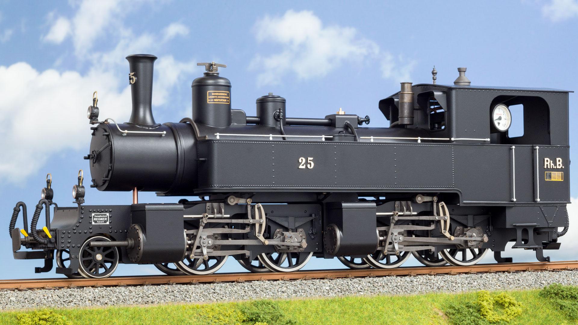 die Mallet-Dampflok Nr. 25 der Rhätischen Bahn als Live-Steam Modell von Regner