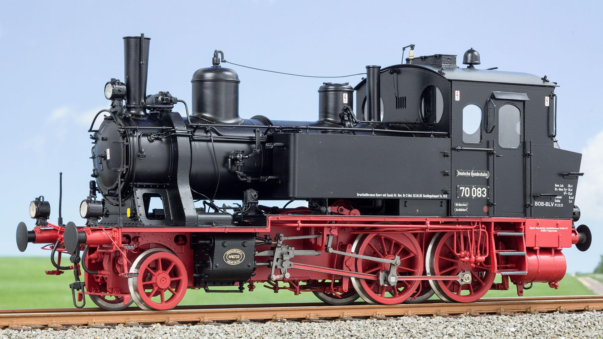 das Spur 1-Modell der Baureihe 70 von KM 1