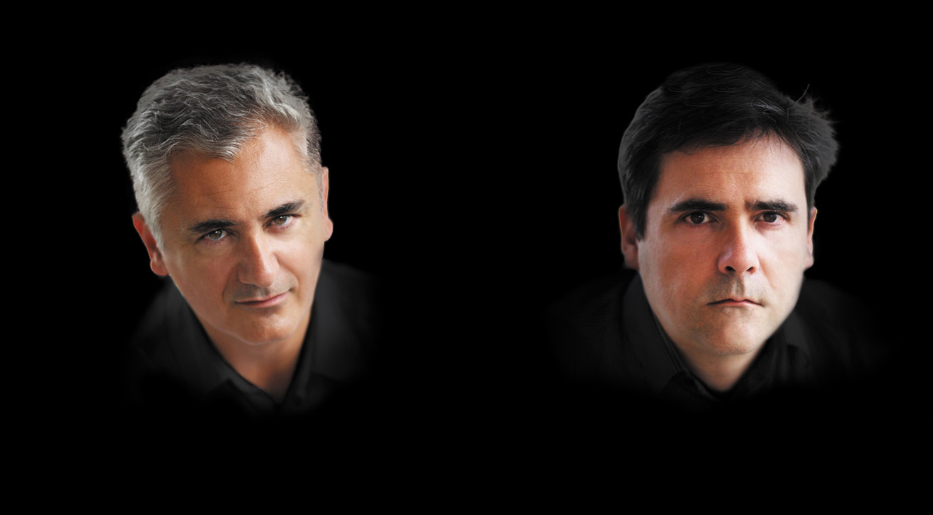 Bestselling thriller writers from France Eric Giacometti and Jacques Ravenne ©M. Avania
