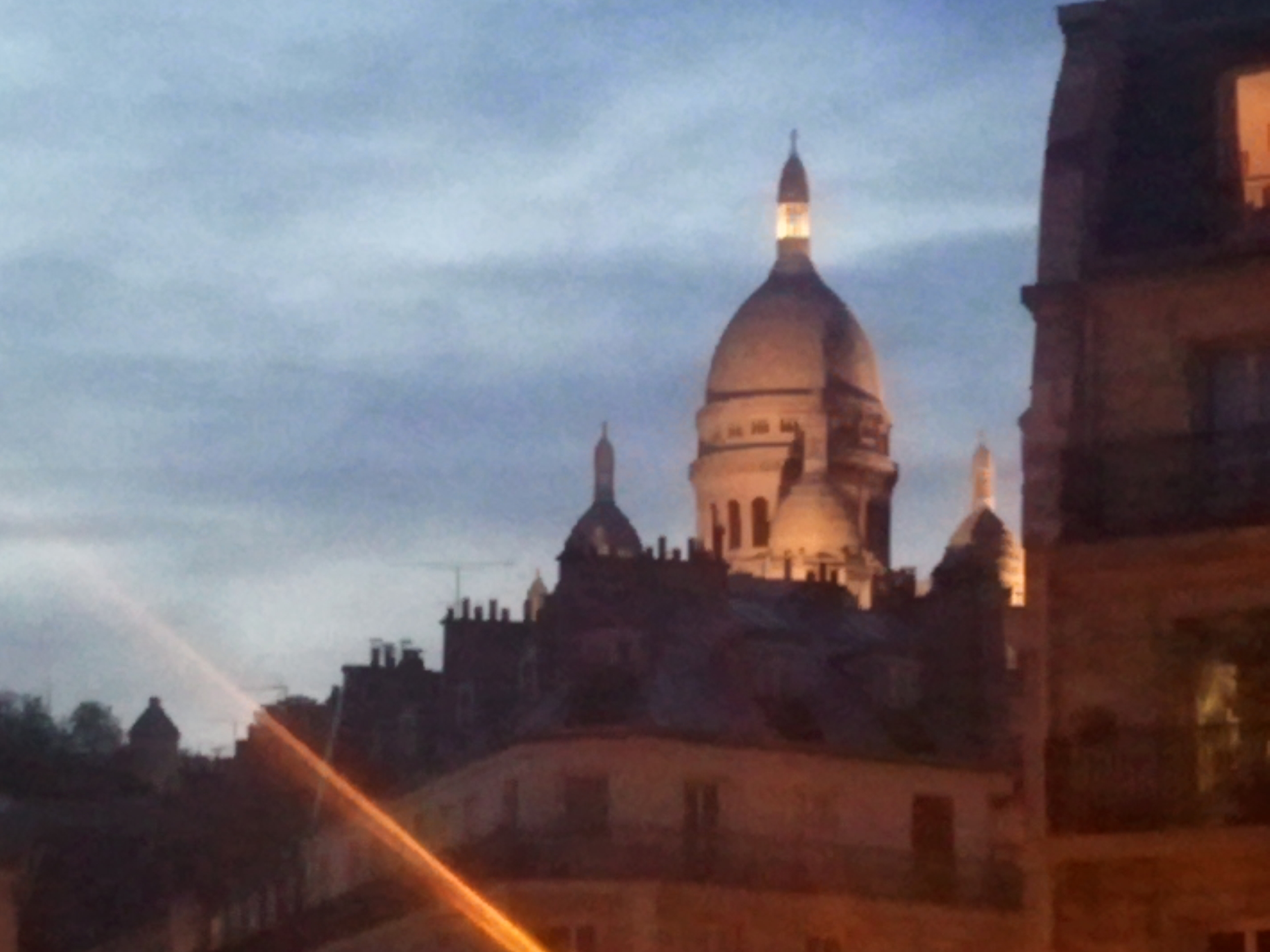 View of Sacre Coeur in Paris