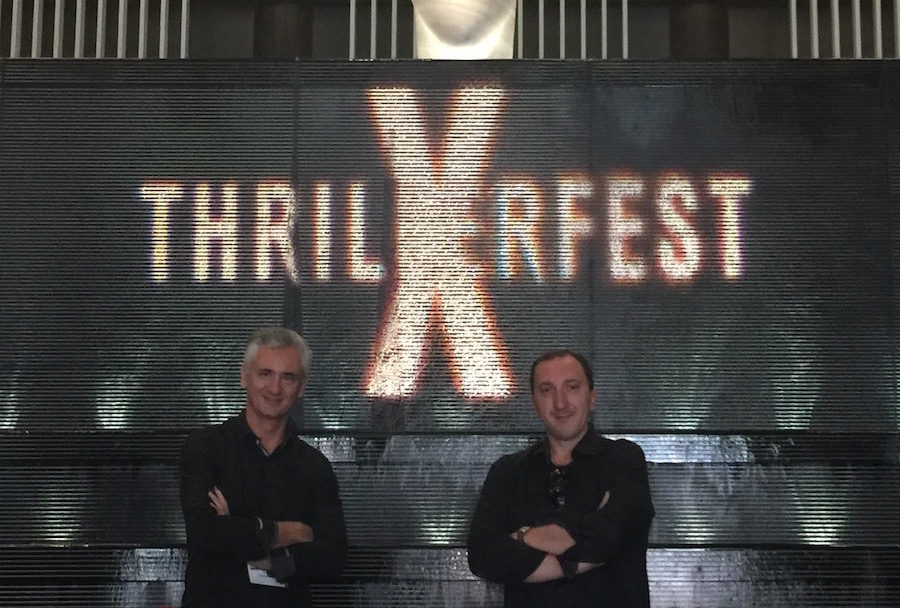 Éric Giacometti and David Khara at Thrillerfest 2015