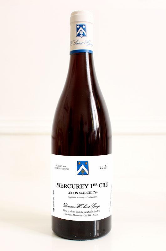 Mercurey 1 er Cru Clos Marcilly - 2012