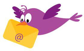 Contact us email bird carrying mail