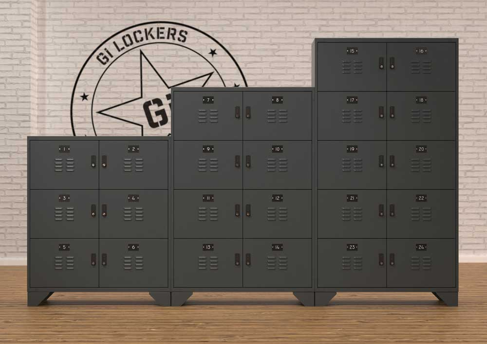 Office Locker Units - Industrial Gi