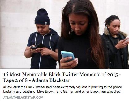 16 Most Memorable Black Twitter Moments of 2015, aTLANTA BLACK STAR, 12/22/15