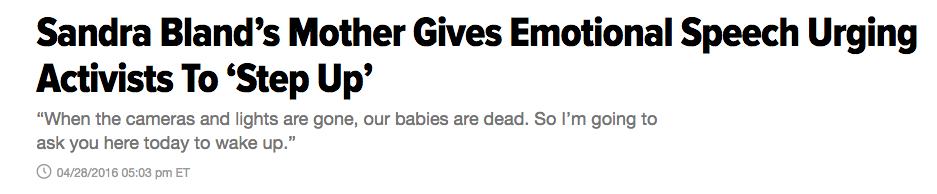 Huffington Post April 28, 2016