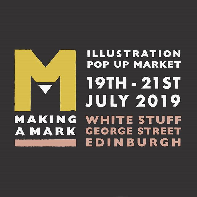 @making.a.mark.edi Making a Mark starts tonight from 5pm at @whitestuff_edinburgh  There is so much great work to see and it has been so wonderfully organised by @illustratedlab and @gavin_rutherford_illustration  It will be open until Sunday, hope to see you there!