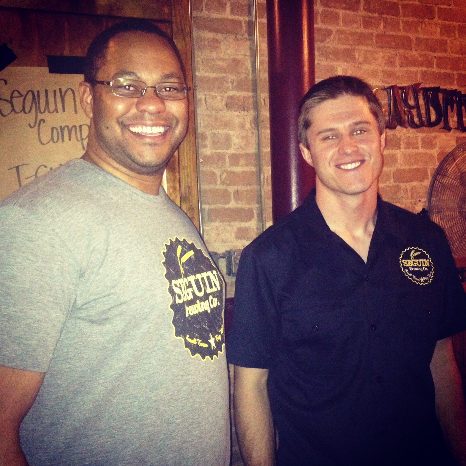 Brian Wallace (right) and Shaun Washington (left) are owners and operators of Seguin Brewing Company.