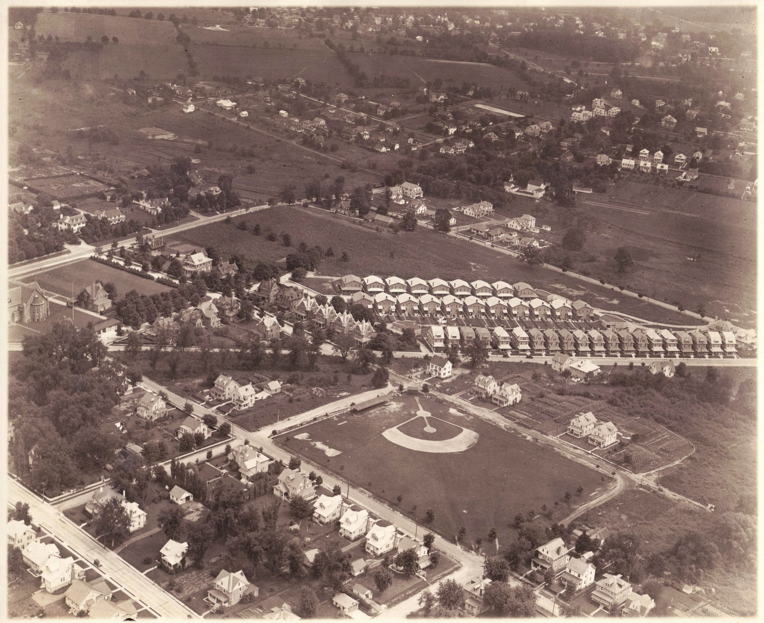 Aerial view of Ambler, 1926.   Dallin Aerial Survey Company. Hagley Museum and Library.