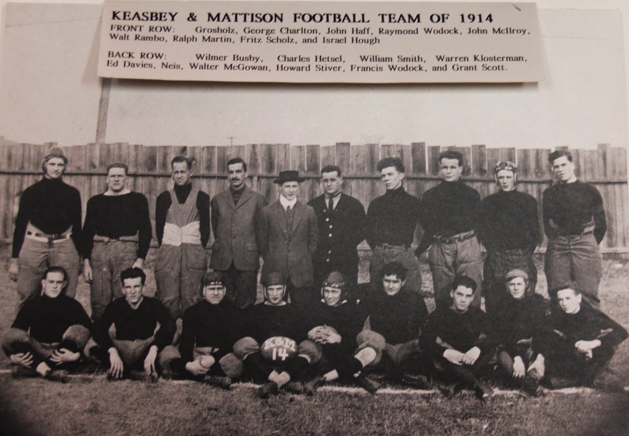 Keasbey and Mattison football team, 1914.   Newton Howard Photograph Collection,Historical Society of Montgomery County.
