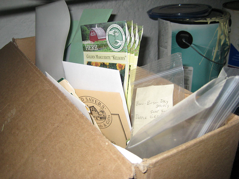 Seed storage at home