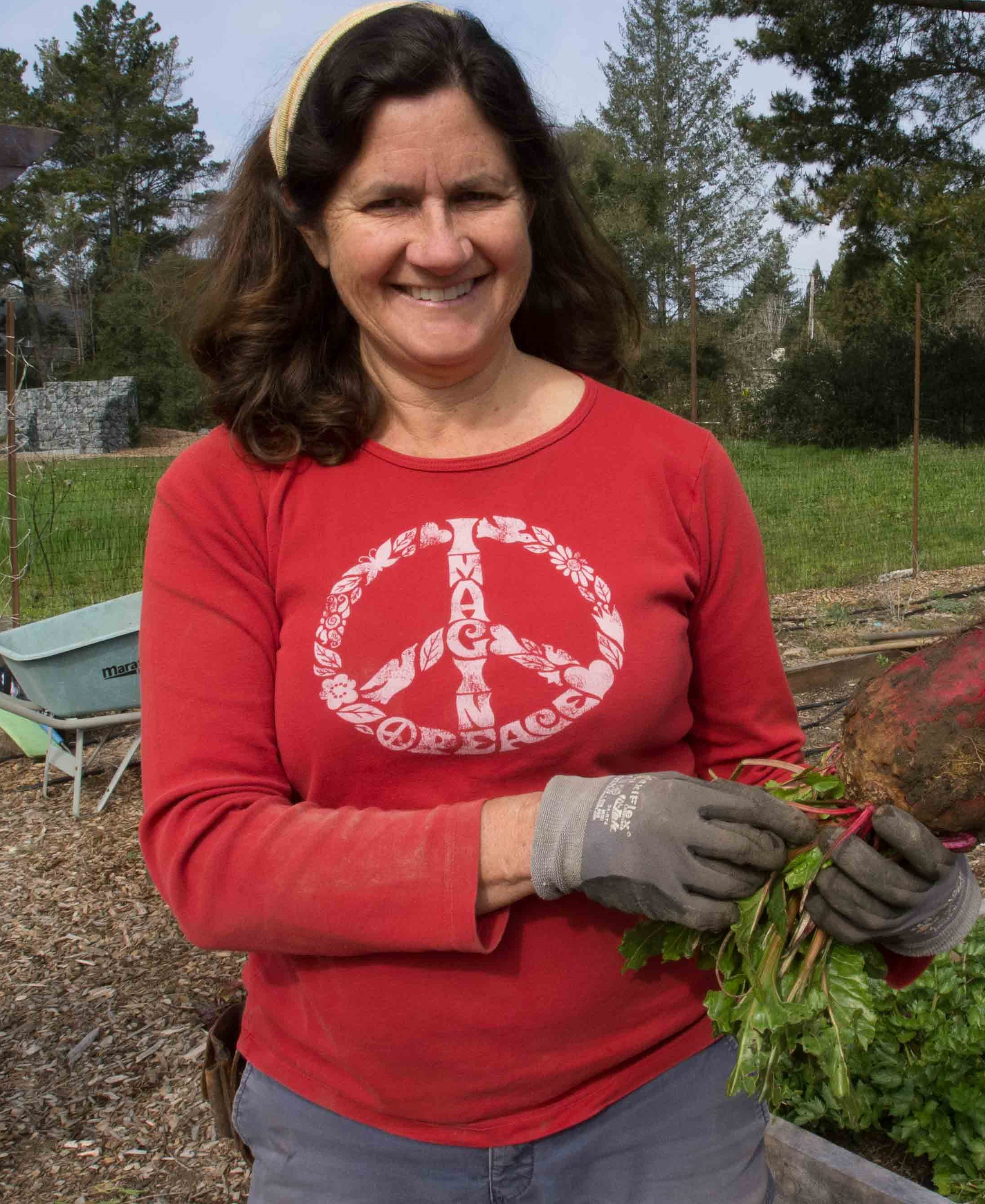 """Sara MCcamant has been a Seed Savers Exchange Member for Almost 25 years. """"I love how much Seed Savers Exchange cares for the story of the seed,"""" she says. """"The value placed on that is inspiring."""""""