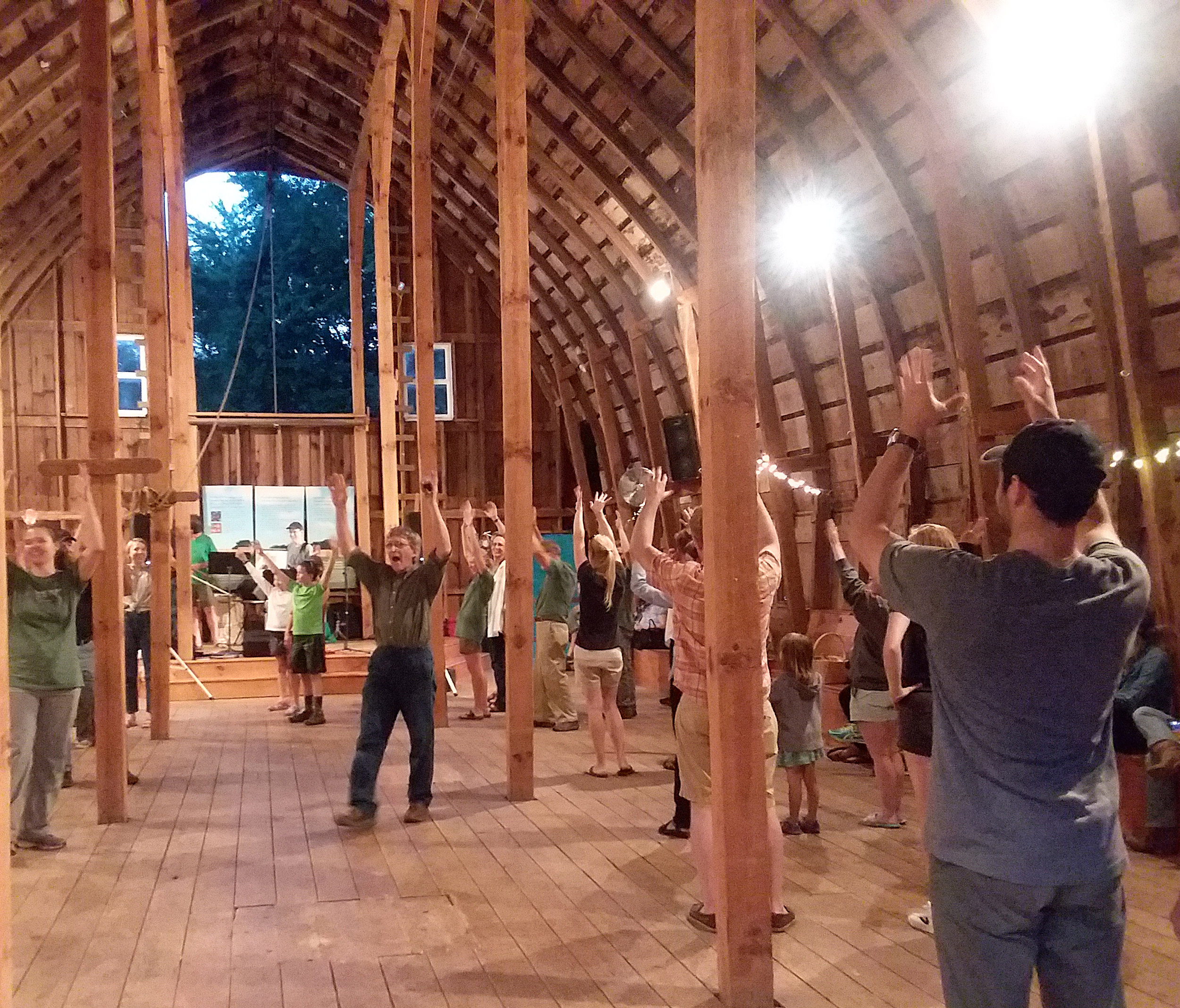 Each year the upper level of the historic barn at Heritage Farm hosts a toe-tapping dance during Seed Savers Exchange's Conference and Campout.