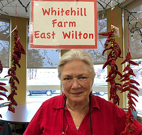 Longtime Seed Savers Exchange member Amy Frances LeBlanc owns Whitehill Farm in East Wilton, Maine. She grows a large variety of tomatoes and peppers, and prepares value-added goods such as hot sauce, jams, and herb mixes. She also lists rare seeds on the Exchange each year.