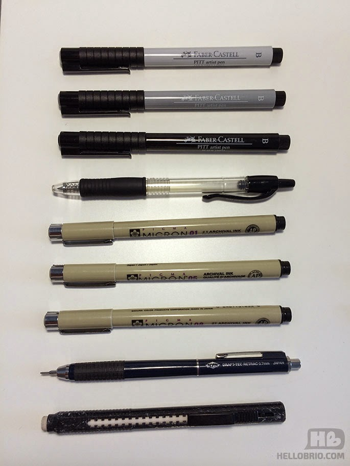 favorite black and grey pens and markers - hellobrio.com