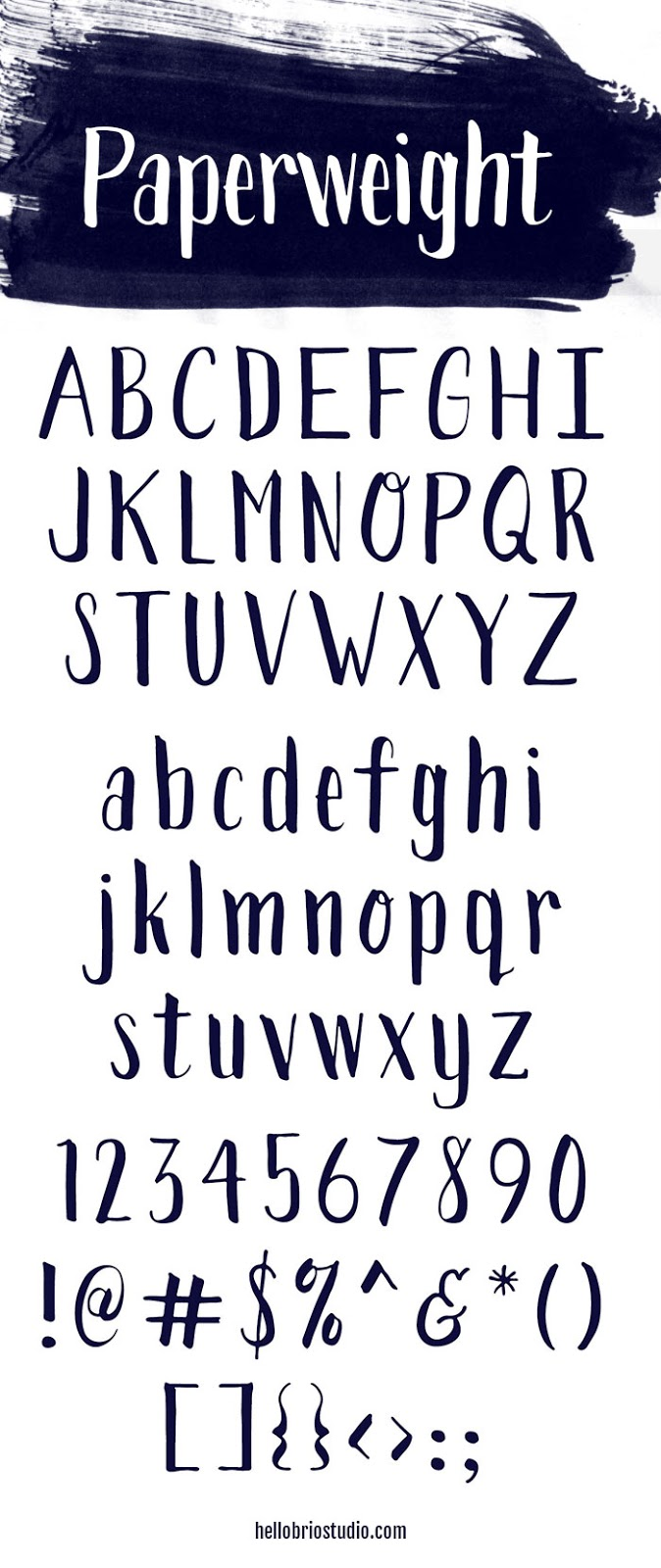 Paperweight Font by Jennifer Coyle at Hello Brio Studio
