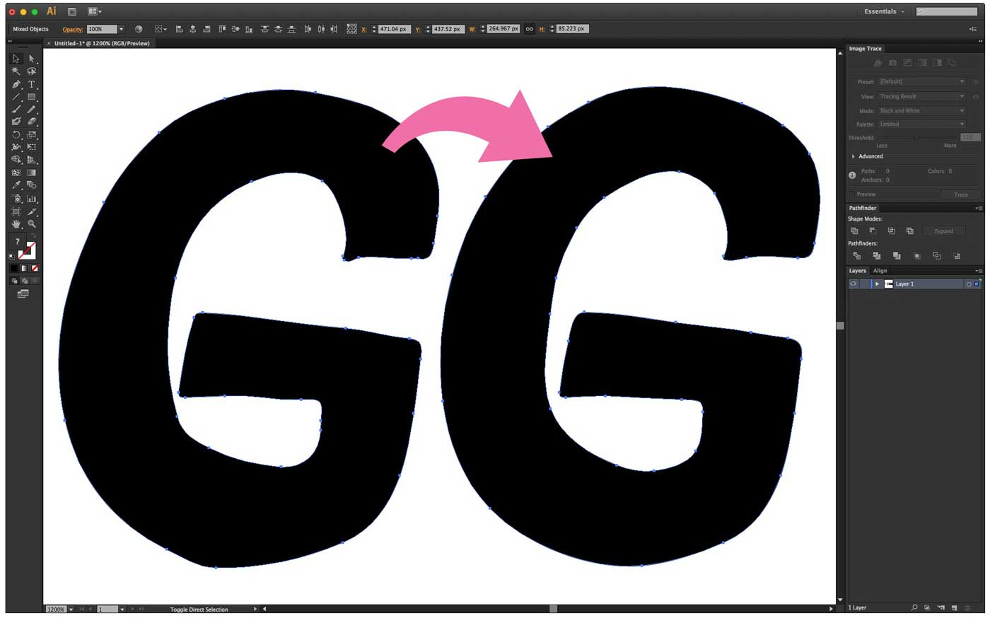 Smooth your letters with the smooth tool in illustrator