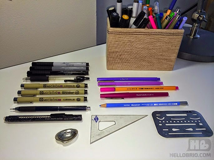 Hand lettering starter kit including all the pencils, markers, and paper that I love (Micron, Tombow, Faber-Castell and more) - Hello Brio Studio