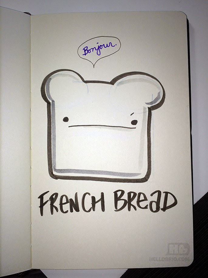 french bread illustration
