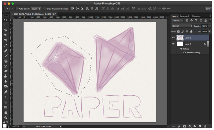 Use the lasso and marquee tool to select individual doodles and move them around