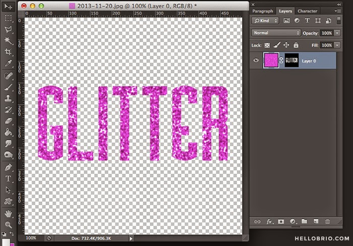 How to make glitter words in Photoshop | Hello Brio