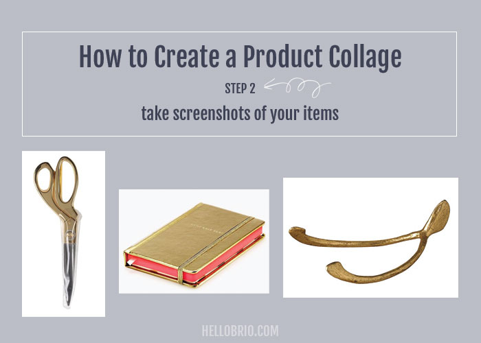 How to create your own product collage in Photoshop - Step 2: Take screenshots or save images for your product collage