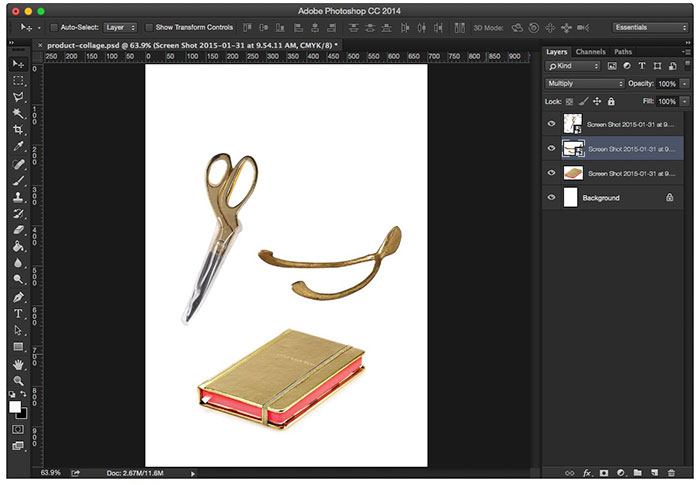 How to create your own product collage in Photoshop - Arrange your items