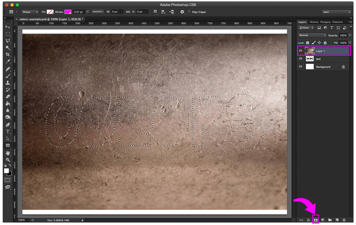 Click on your texture layer and then click on Add Layer Mask