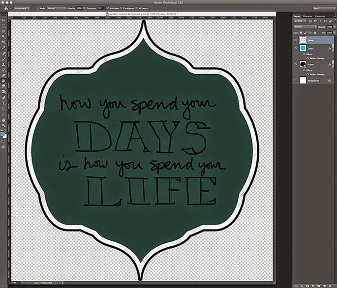 How to Create a Hand Lettered Chalkboard Drawing in Photoshop - HelloBrio.com
