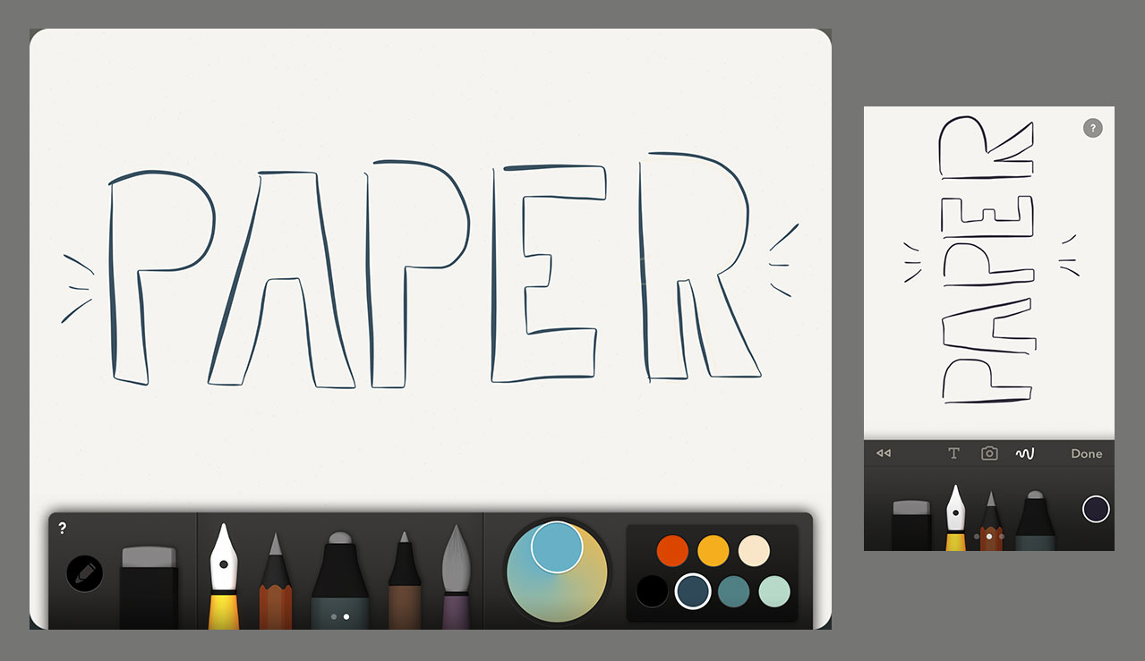 Drawing with Paper app by FiftyThree for iPad and iPhone