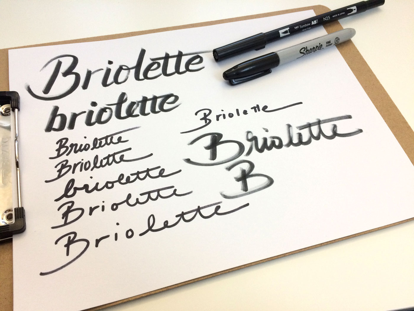 Learn how to create your own hand lettered blog header - Draw your header multiple times and experiment with different handwriting styles