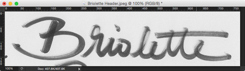 Learn how to create your own hand lettered blog header - Crop your scan to your desired iteration