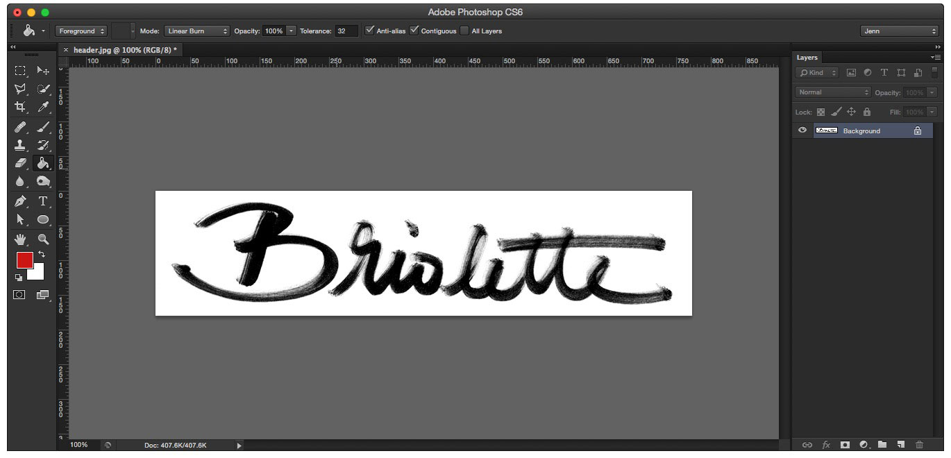 Learn how to create your own hand lettered blog header - Cleaned up artwork!