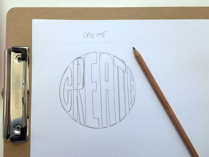 First, sketch your drawing on paper using a pencil.