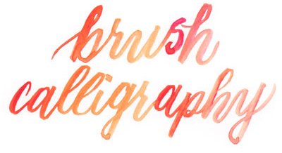 Learn brush calligraphy