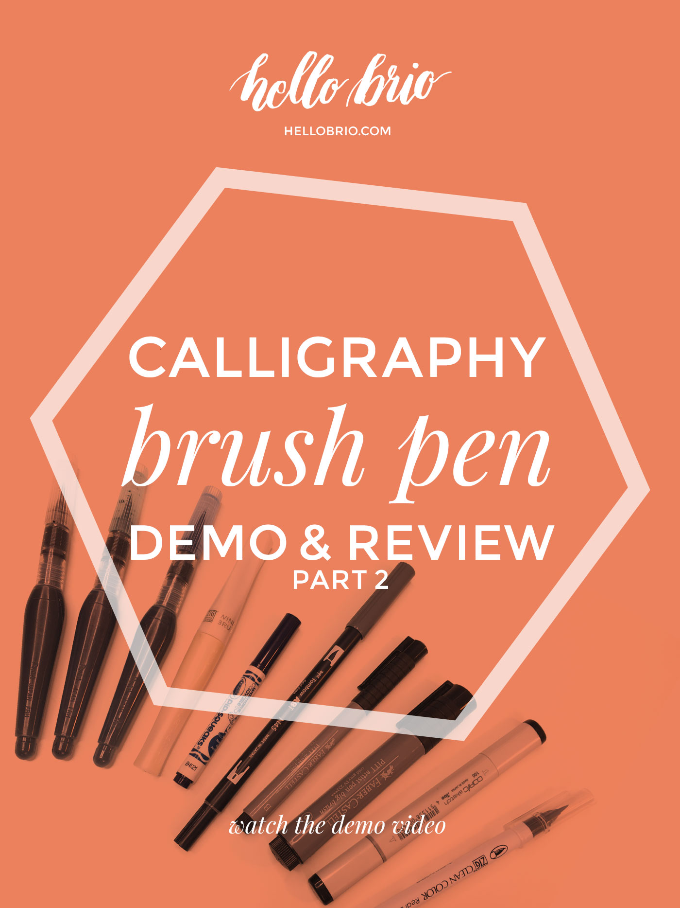 Click through for a demonstration and review of specialty brush calligraphy markers and pens including a video demo