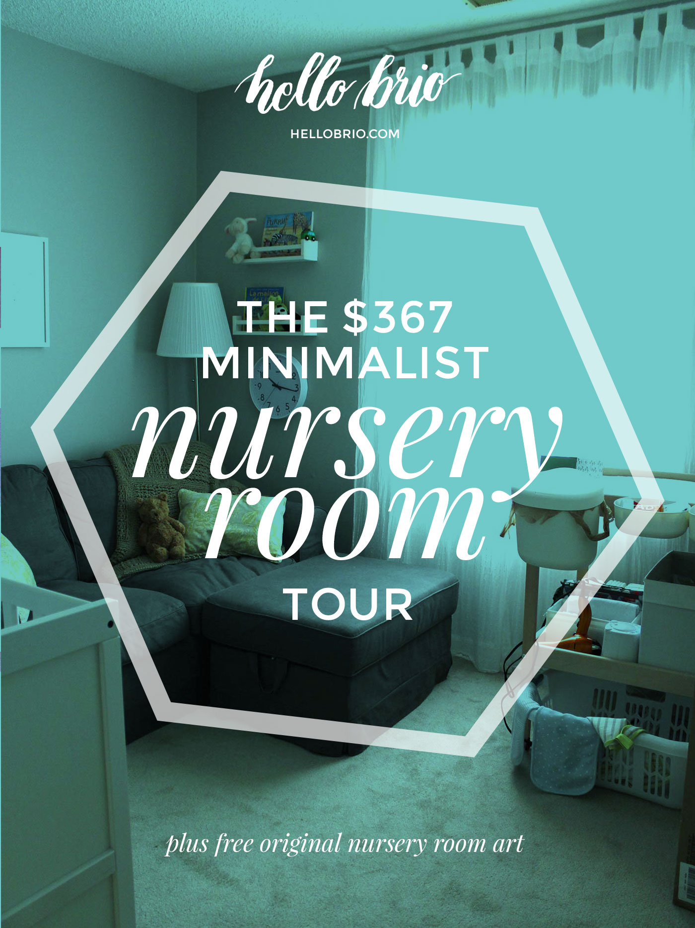 The $367 minimalist nursery room tour and breakdown of everything we needed to get set up for our first baby