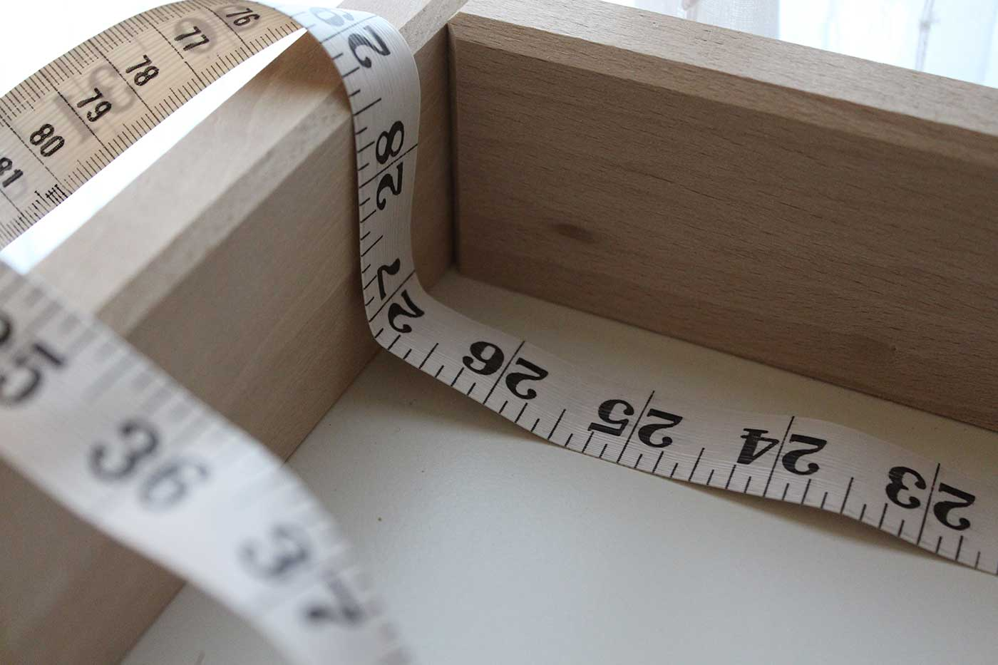 """Measure about 27""""  - Easy baby DIY project for a changing table pad for the IKEA SNIGLAR"""