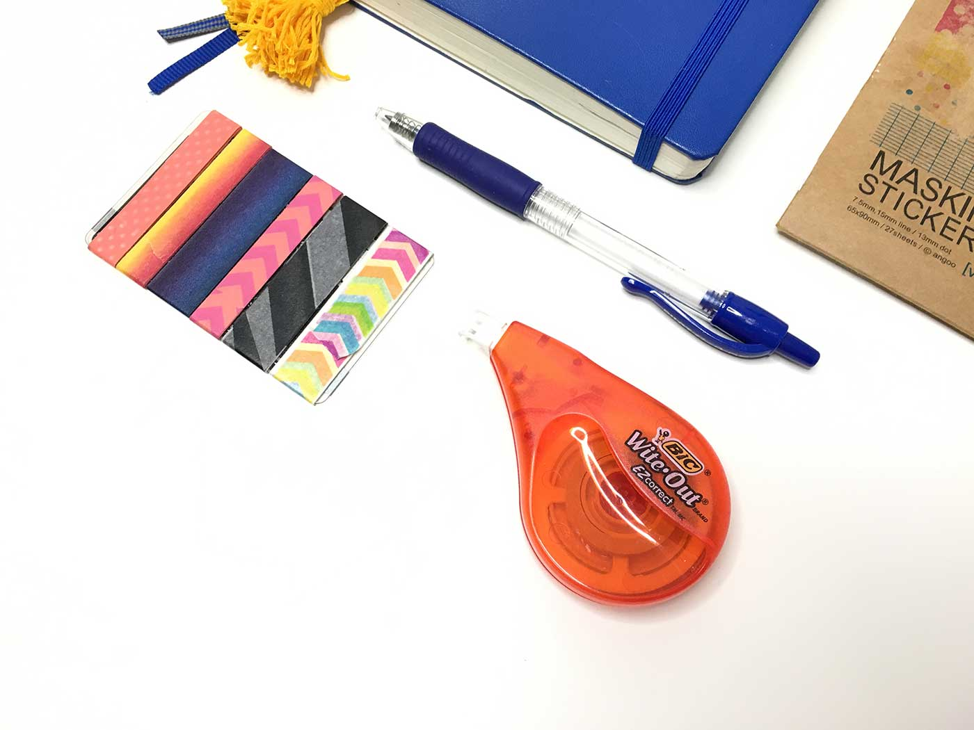 Correction tape is a must-have for perfectionists and their bullet journal planners