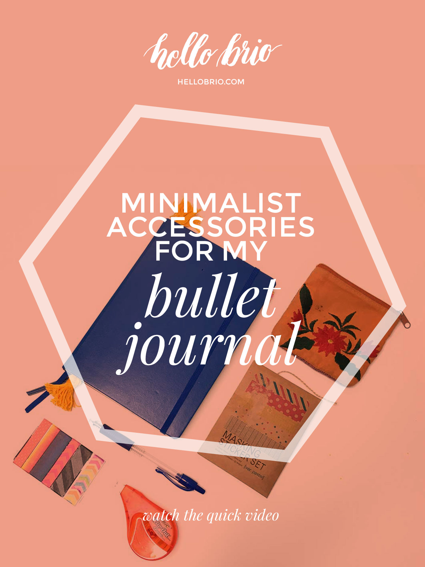 Minimal travel accessories for the bullet journal