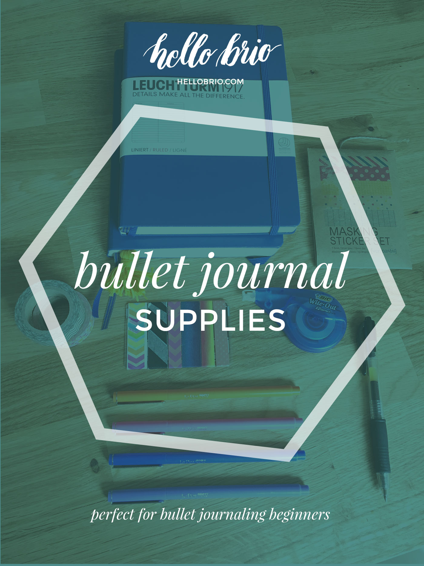 Getting started with bullet journaling - supplies you may need - perfect for beginners