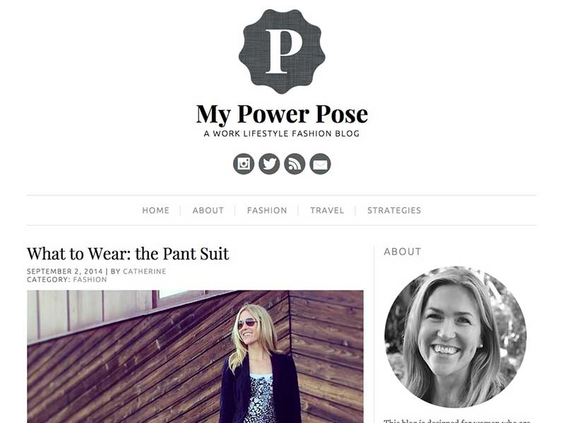 My Power Pose  is a lifestyle and fashion blog focusing on smart work attire. Catherine is a hard working fundraising professional and wanted a personal blog to document and share her style tips.